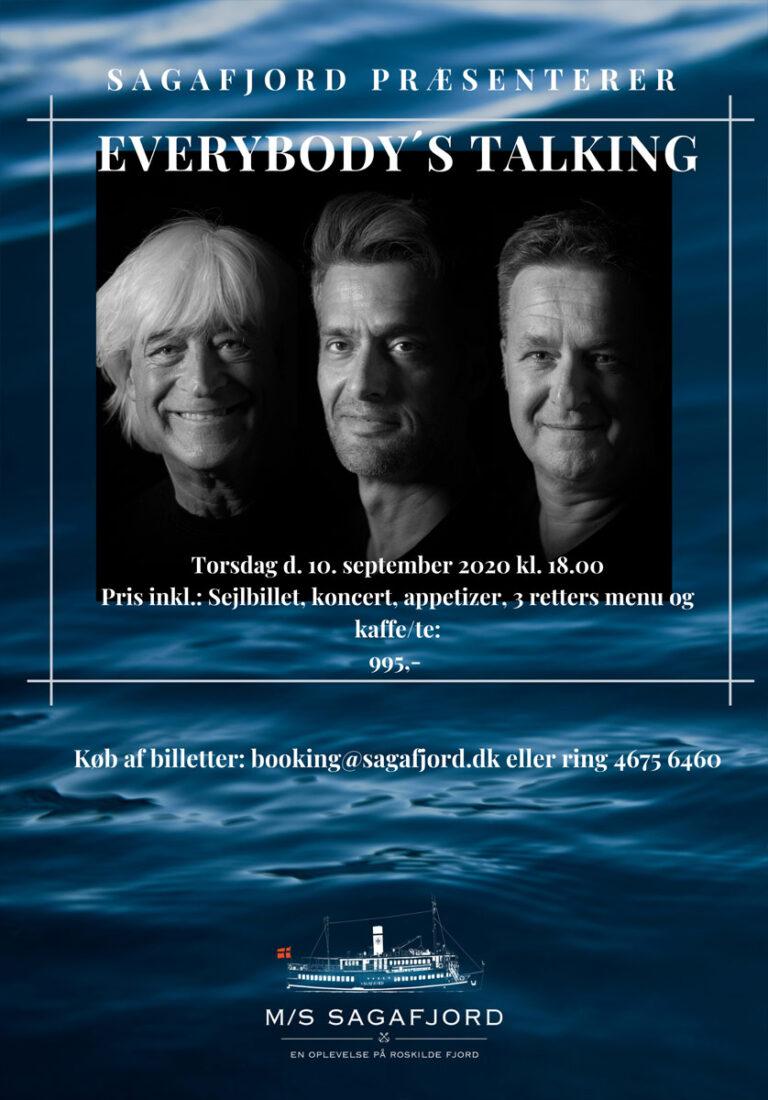 Everybodys Talking - Sagafjord plakat