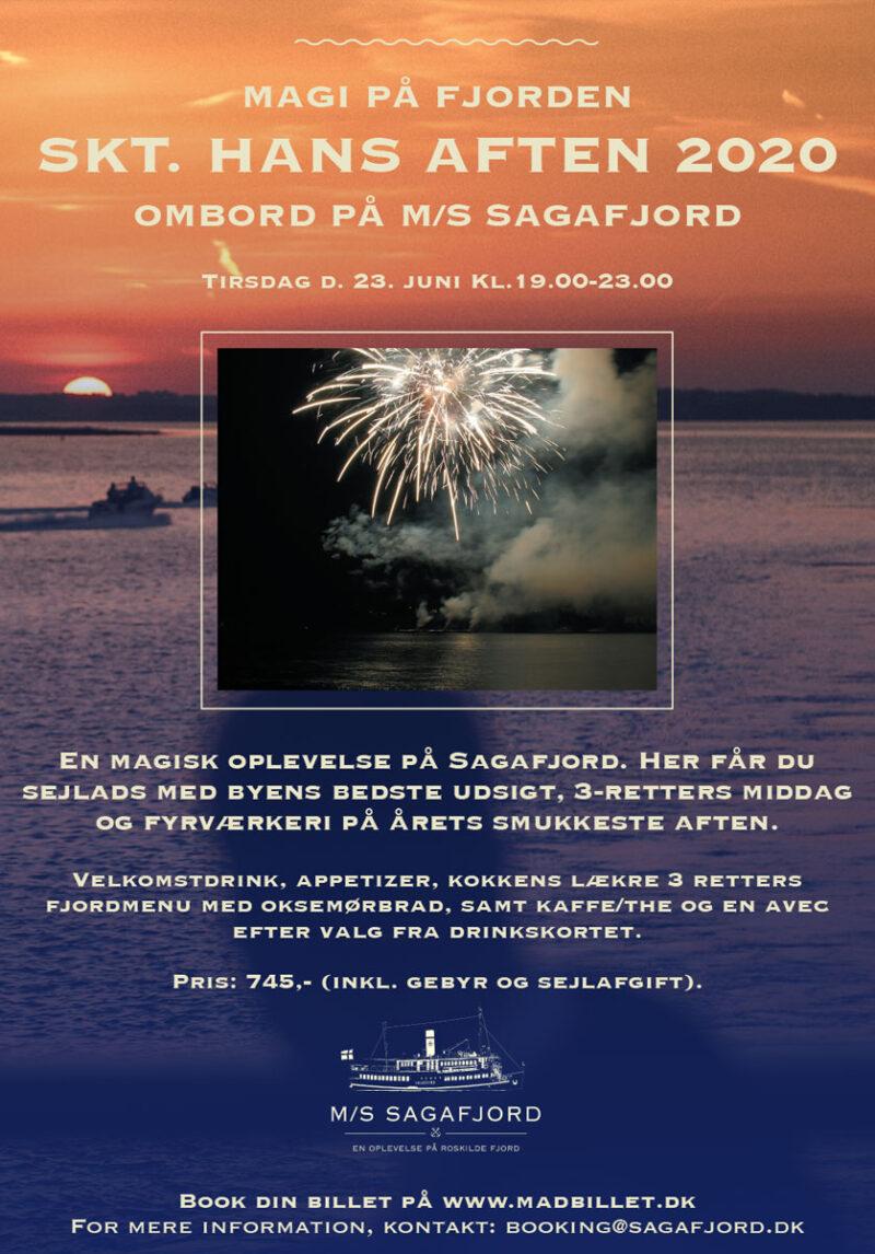 Skt. Hans Aften - Sagafjord plakat