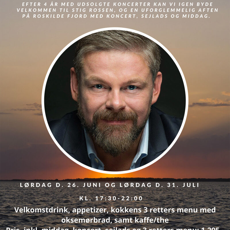Koncert med Stig Rossen Lørdag d. 26 Juni 2021