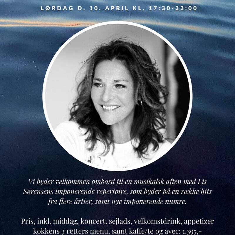 Koncert med Lis Sørensen Lørdag d. 10 April 2021 kl 17.30-22.00