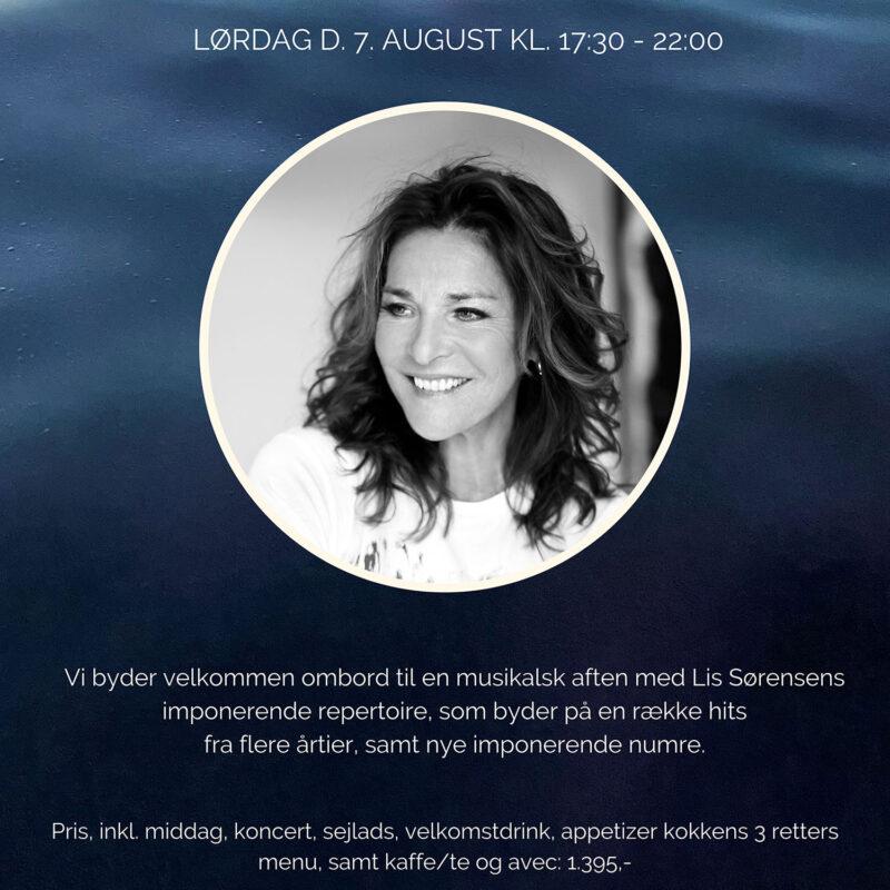 Koncert med Lis Sørensen Lørdag d. 7 August 2021 kl 17.30-22.00