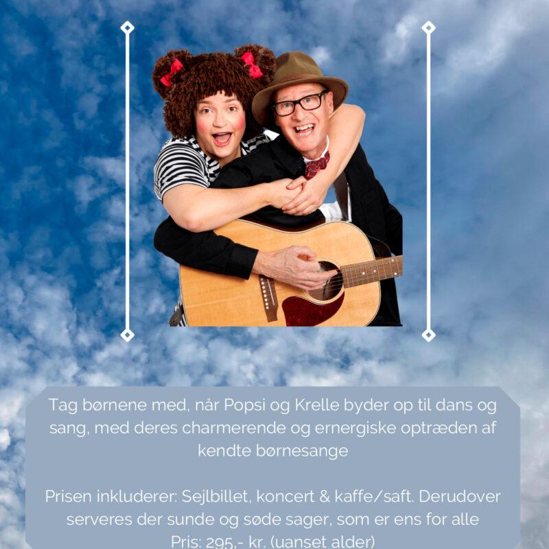 Koncert med Popsi og Krelle Søndag d. 12 Juni 2022 kl. 11.30-14.00
