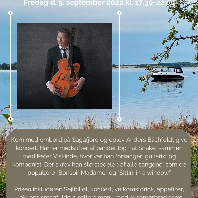 Koncert med Anders Blichfeldt Fredag d. 9. september 2022 kl. 17.30-22.00
