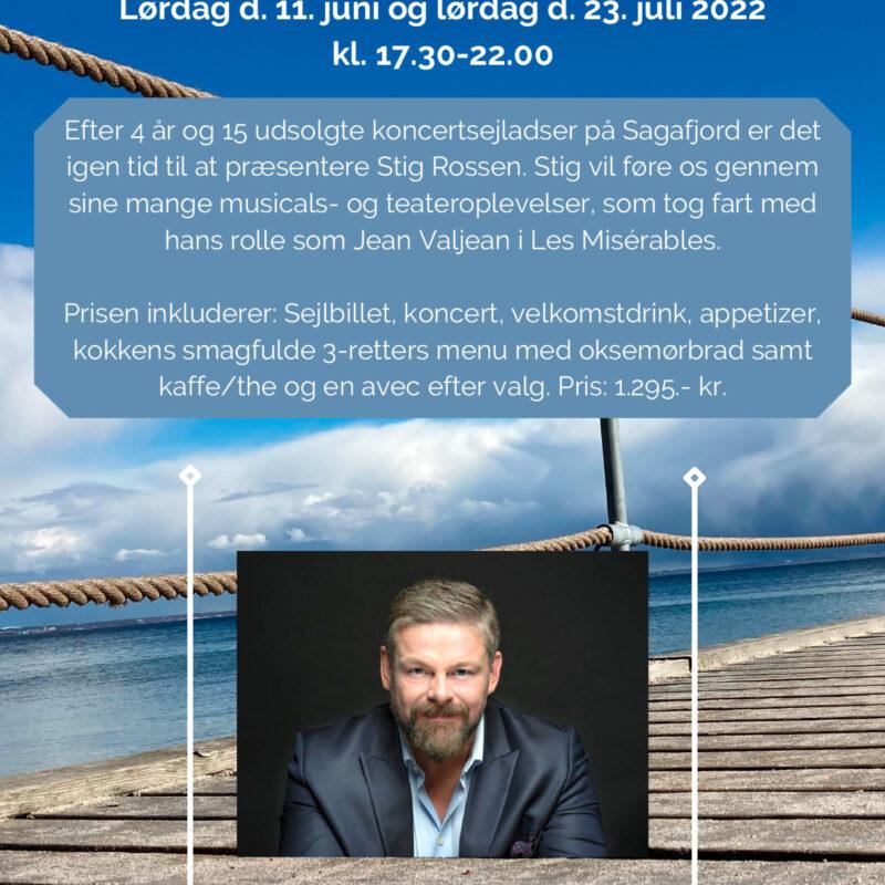 Koncert med Stig Rossen Lørdag d. 11 Juni 2022